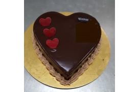 Tarta Chocolate y Nata San Valentin